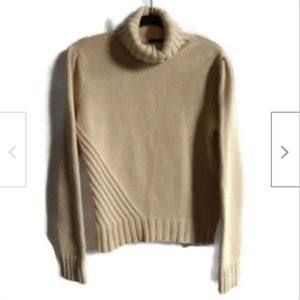 J. Crew tan heavy cable knit sweater size L